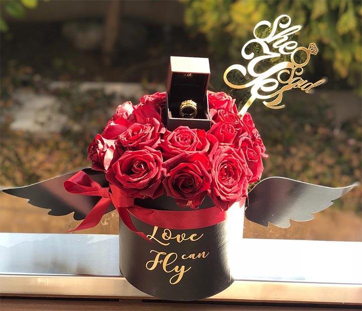 قیمت گل رز داخل جعبه