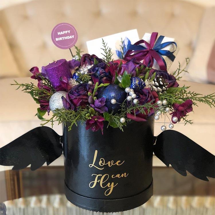 باکس گل آبی