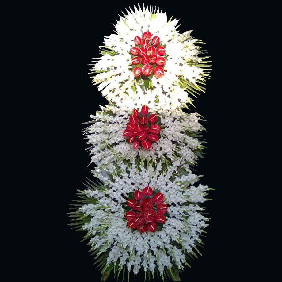 ارسال تاج گل سه طبقه