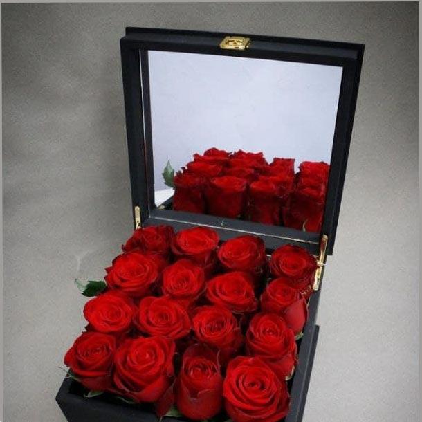 باکس آینه دار گل رز