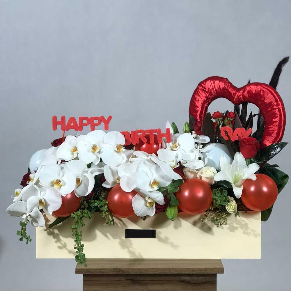 باکس گل تولدت مبارک