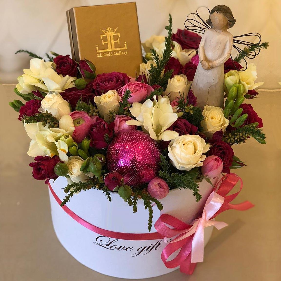 باکس گل هدیه روز مادر مدل فرشته زمینی