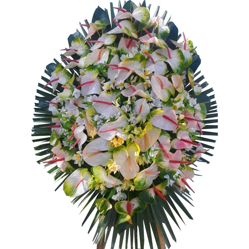 تاج گل آنتوریوم و گلایل