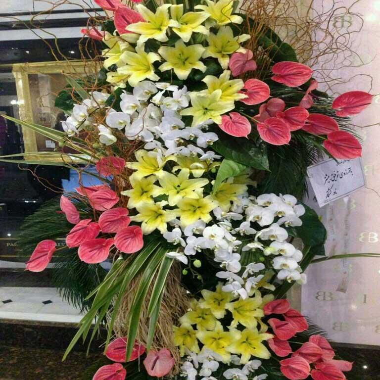 تاج گل افتتاحیه شادباش