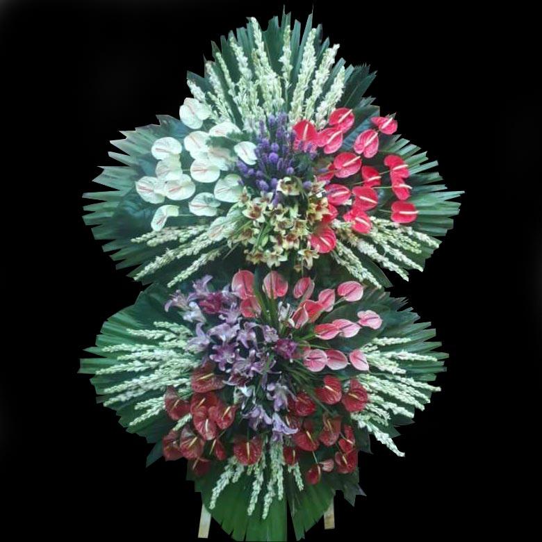 تاج گل تبریک آنتوریوم و لیلیوم