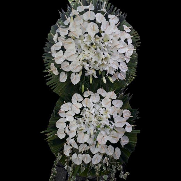 تاج گل دوطبقه ای ختم