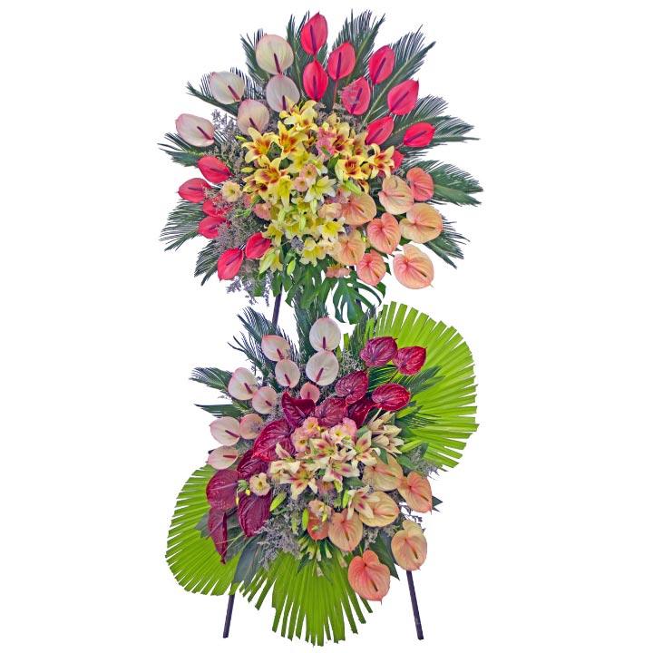 تاج گل دو طبقه اوریانتال و آنتوریوم