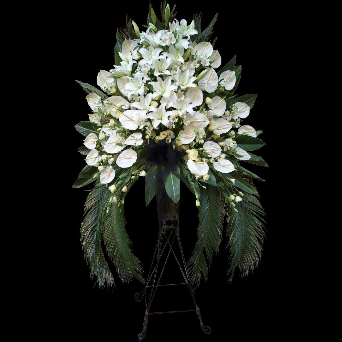 تاج گل فانتری آنتریوم لیلیوم پایه فرفورژه