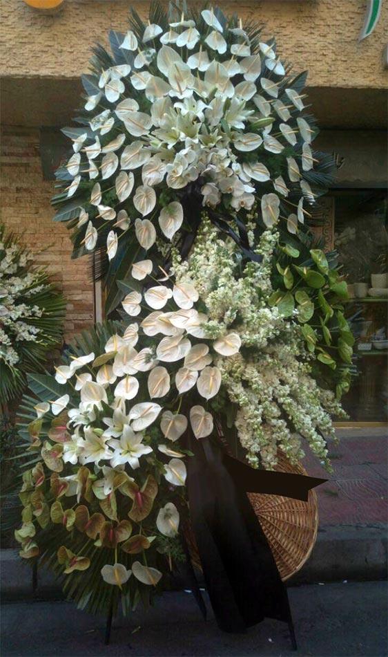 تاج گل لوکس فانتزی سه طبقه چهار متری شبو ارکیده آنتوریوم