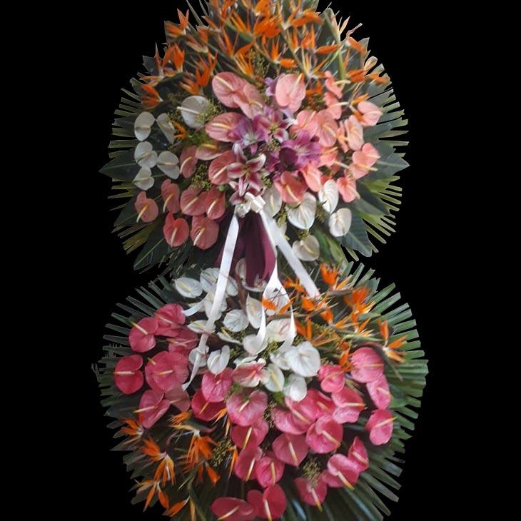 تاج گل نمایشگاهی دو طبقه برای عرض تبریک
