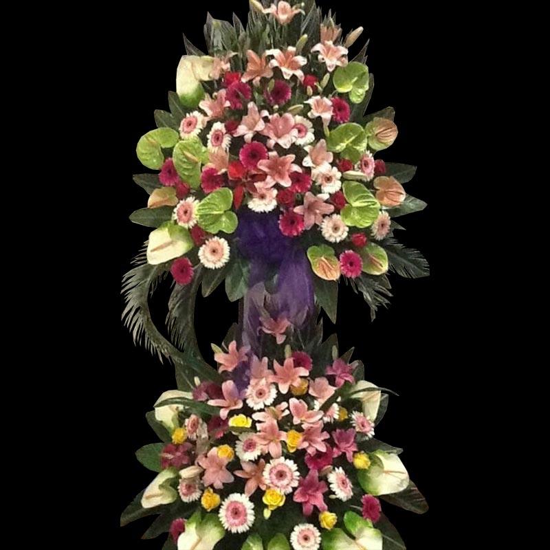 تاج گل نمایشگاه و افتتاحیه طرح دوطبقه