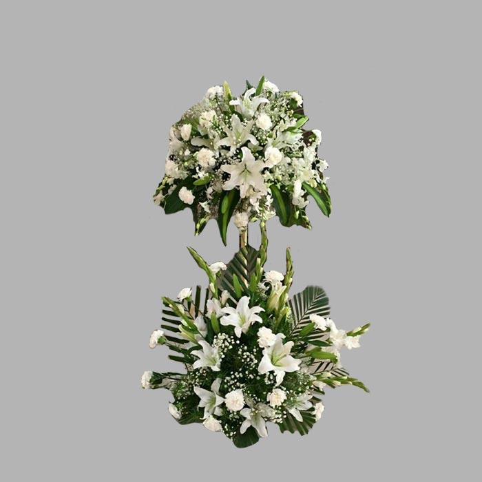 تاج گل گلایل میخک و لیلیوم