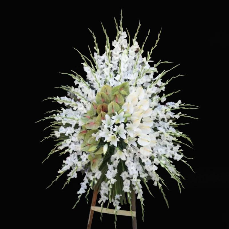 تاج گل گلایل و آنتوریوم