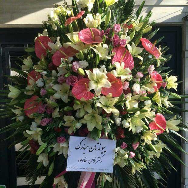 تاج گل یک طبقه انتریم صورتی لوسینتوس