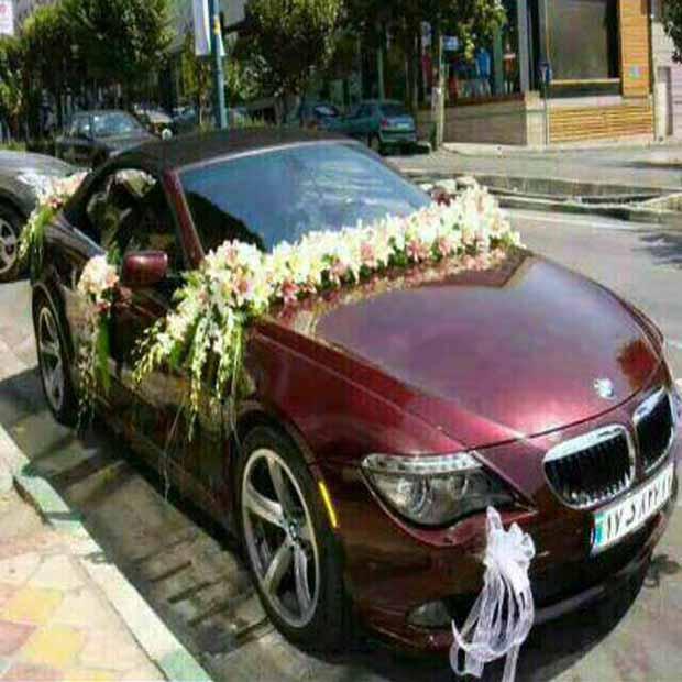 تزیین ماشین عروس بی ام دبلیو