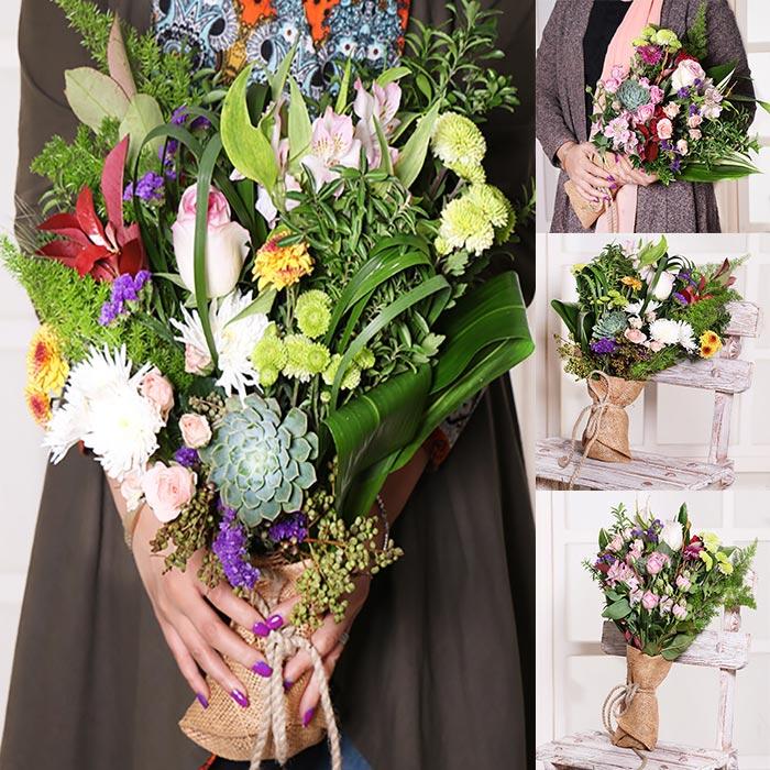 دسته گل رمانتیک دانمارکی ده شاخه