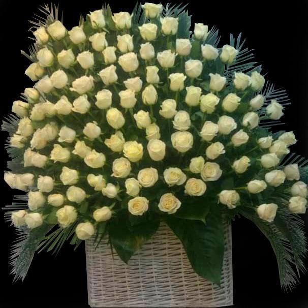 سبد گل ختم رز هلندی درجه یک