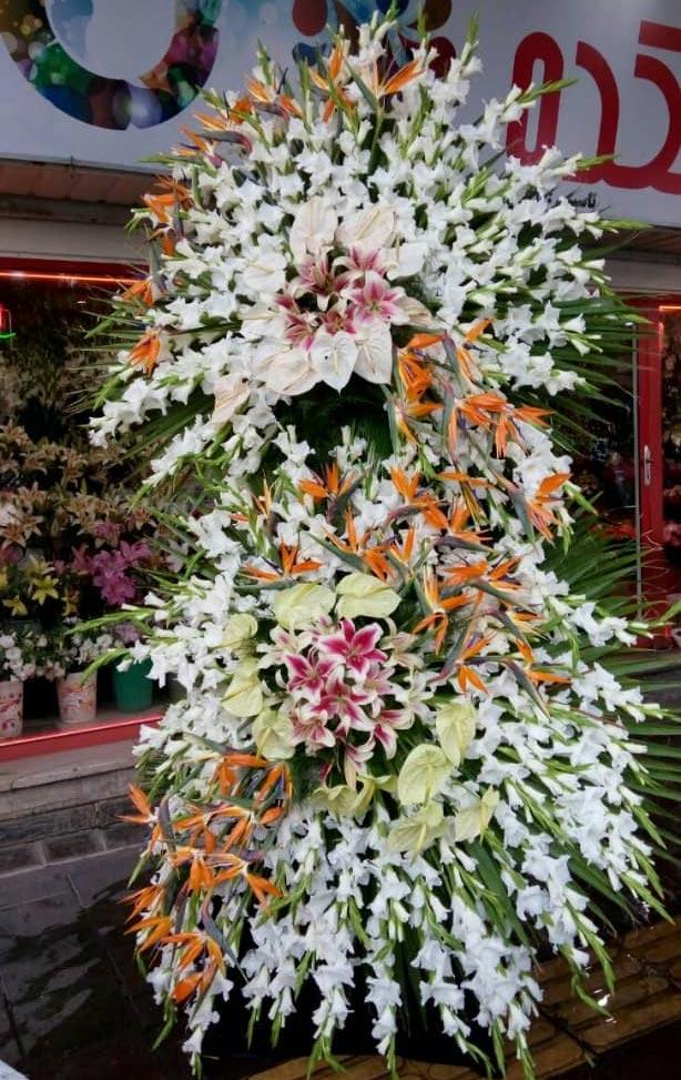 سفارش تاج گل ترحیم فانتزی دو طبقه