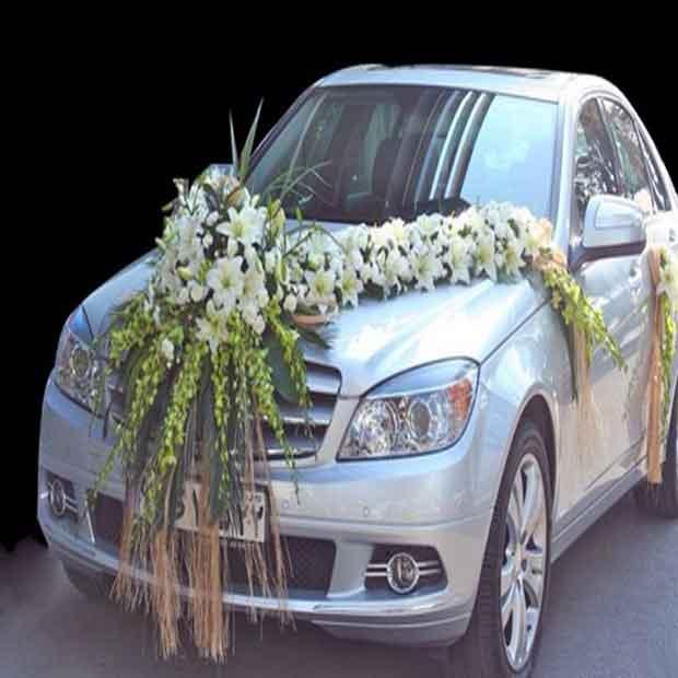 ماشین عروس تزئین شاسی بلند