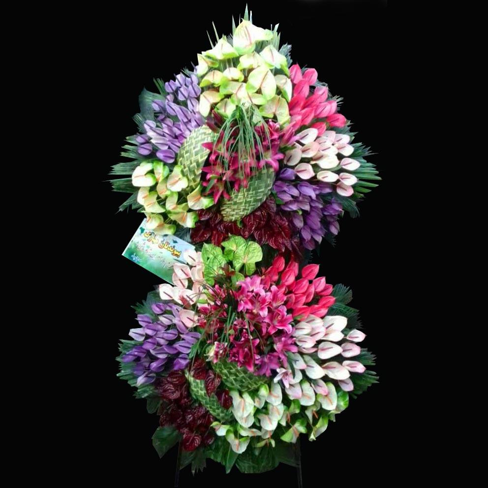 گل آنتوریوم و لیلیوم با ترکیب رنگی خاص
